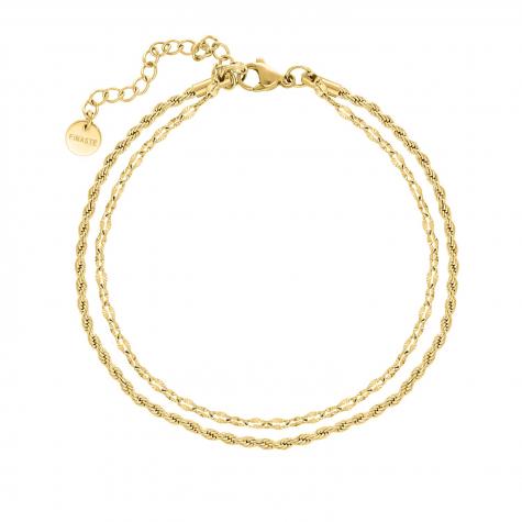 Enkelbandje double chain goud kleurig