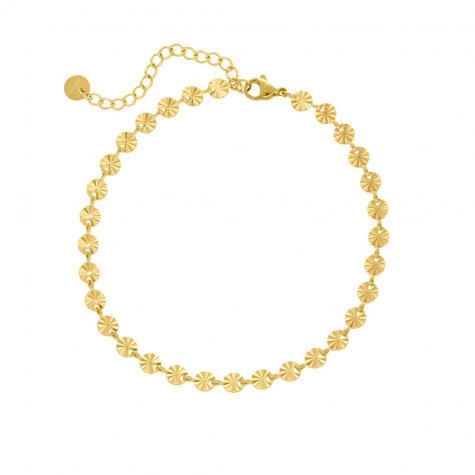 Enkelbandje flower chain goud kleurig