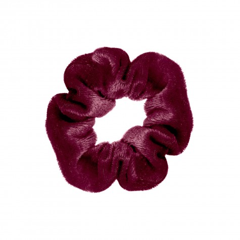 Velvet bordeaux scrunchie