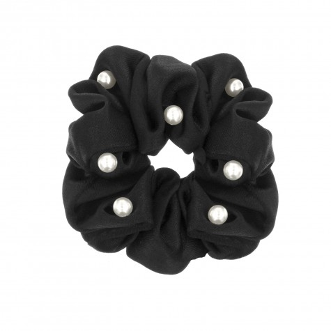 Scrunchie Parel Zwart