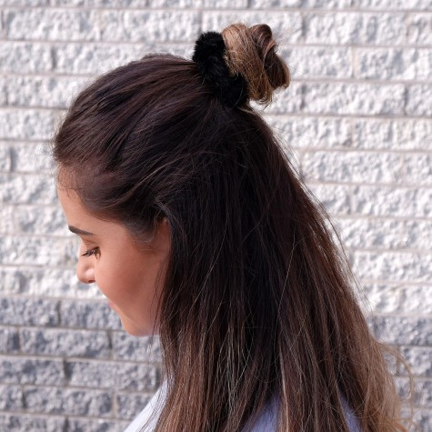 Scrunchie Faux Fur Zwart