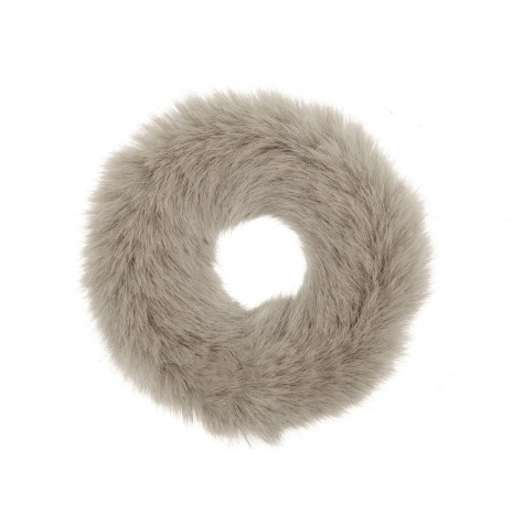 Scrunchie Faux Fur Taupe