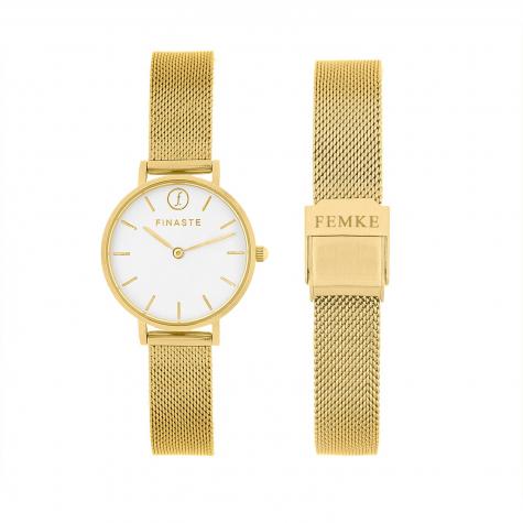 Gouden horloge met jouw Naam