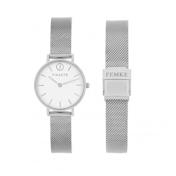 Zilveren horloge met jouw gravering