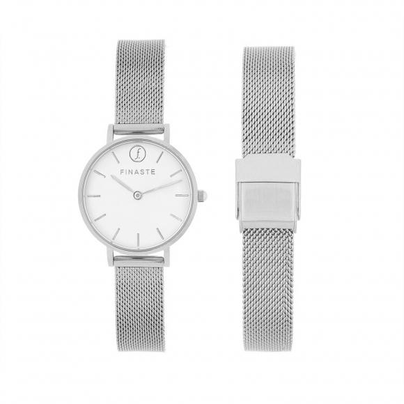 Zilveren horloge
