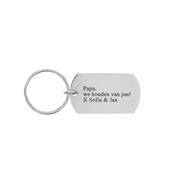 Koop jouw sleutelhanger met tekst