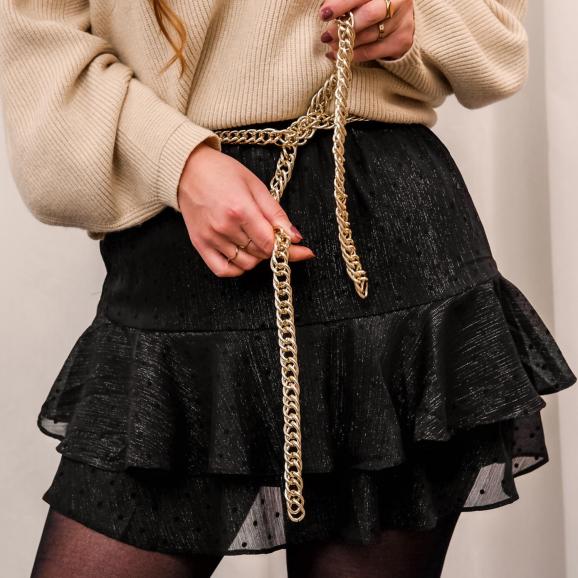 Trendy chain belt voor bij jouw kerstoutfit
