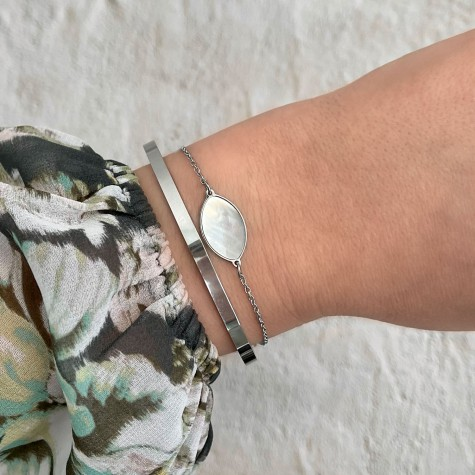 Armband druppel pearl