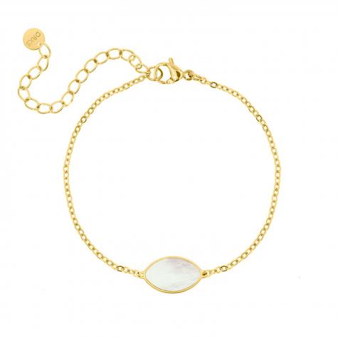 Armband druppel pearl goud kleurig