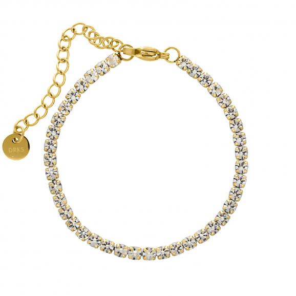 Tennis bracelet goud kleurig
