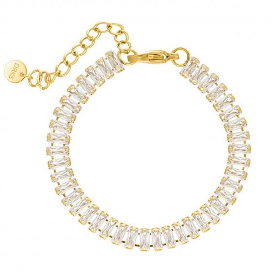 Big tennis bracelet goudkleurig
