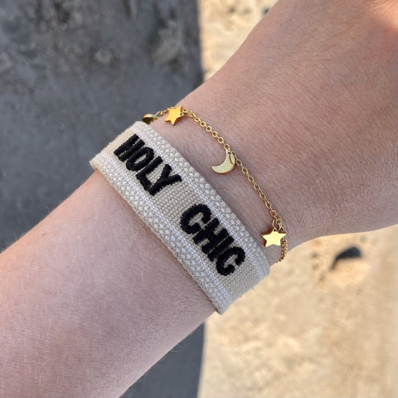 Trendy set van twee armbanden in het goud