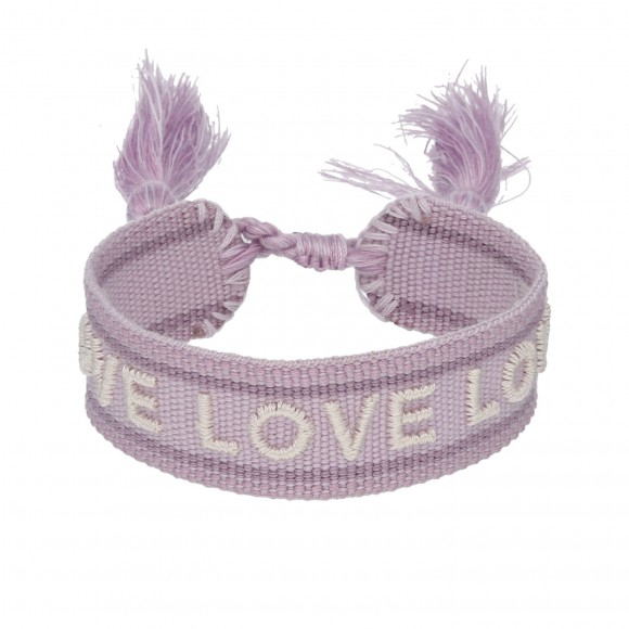 Ibiza Armband love lila