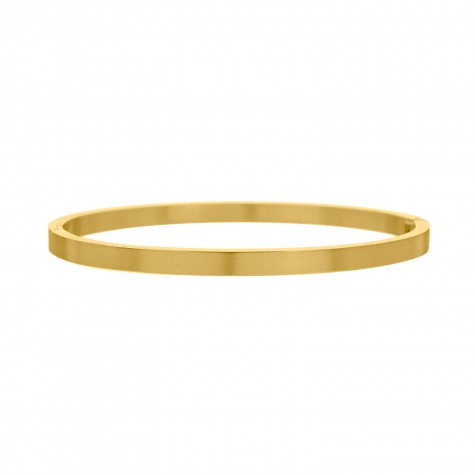 Brushed bangle goud kleurig