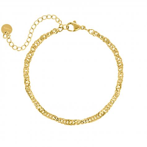 Armband met chains goud kleurig