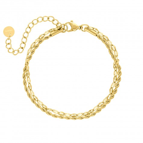 Armband double chain gold plated