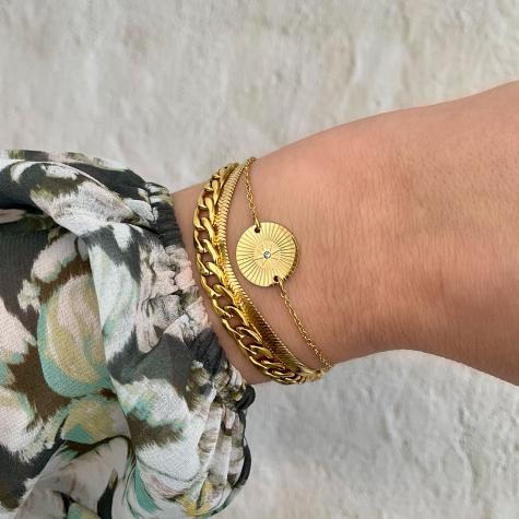 Armband star bedel kleur goud