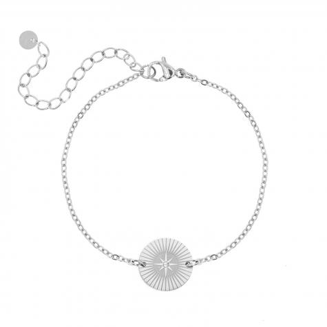 Armband star bedel kleur zilver