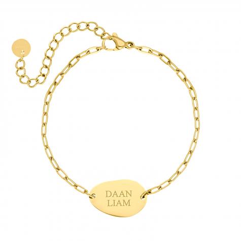 Graveerbare armband charm goud kleurig