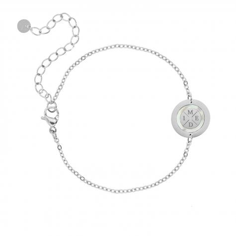 Armband 4 initials parelmoer