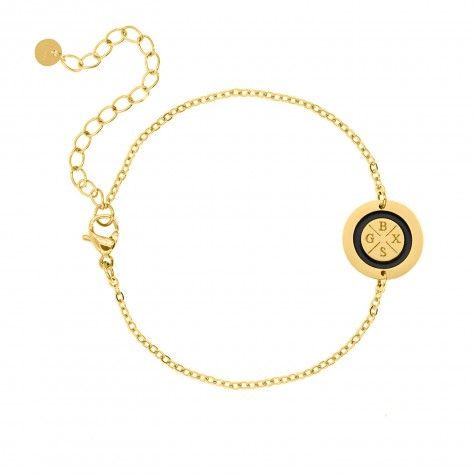 Armband 4 initialen goud kleurig
