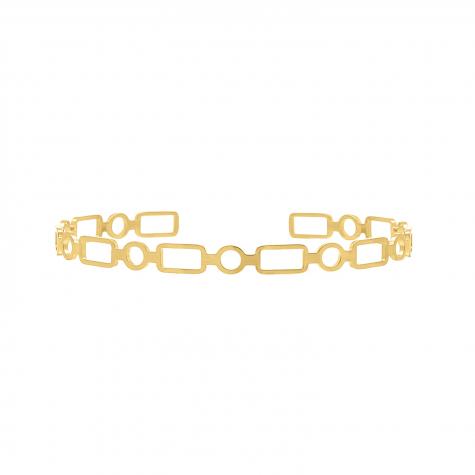 Bangle verstelbaar chain goud kleurig