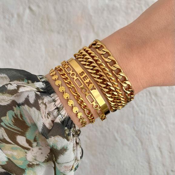 Armbanden party om pols in goud