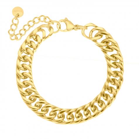 Chain armband chunky kleur goud
