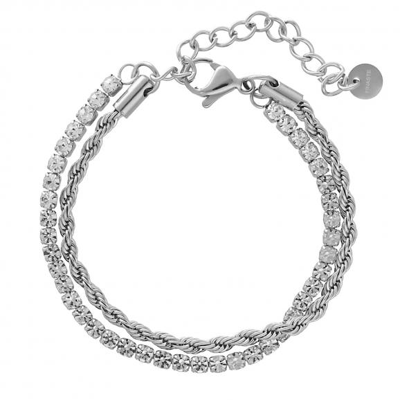 Dubbele chain & tennis armband