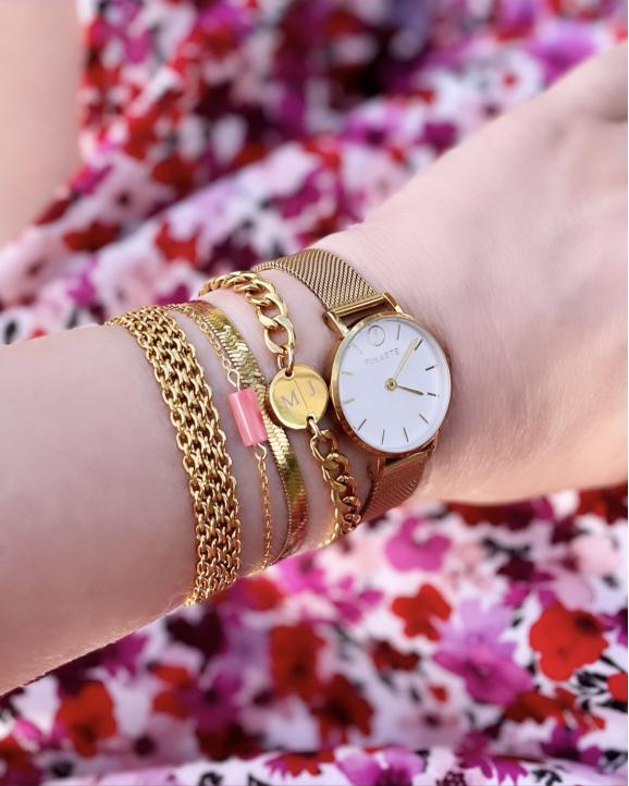 gouden armbanden met finaste horloge