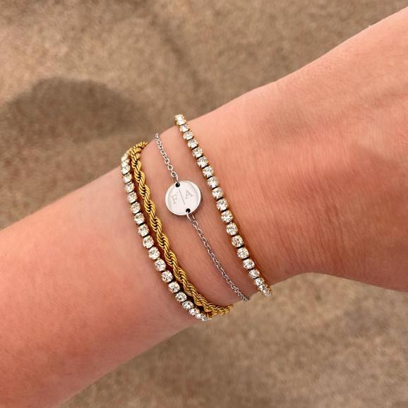 gouden en zilveren armbanden mix