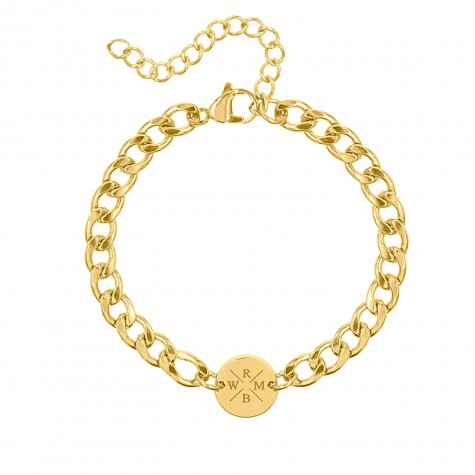 Armband Chunky 4 initials gold plated