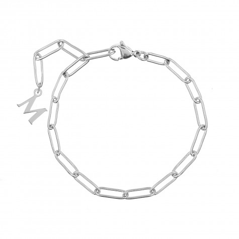 Chain armband met letter