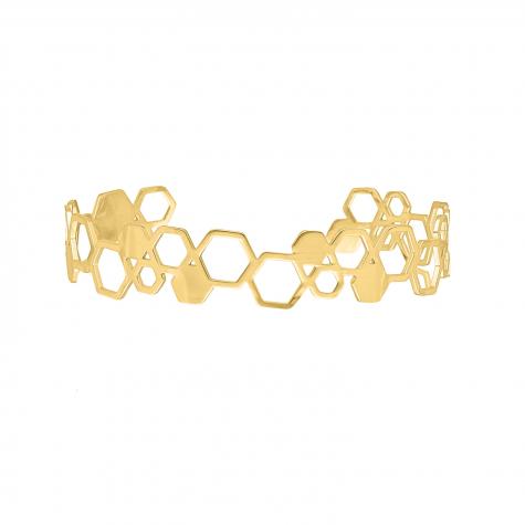 Bangle hexagon kleur goud