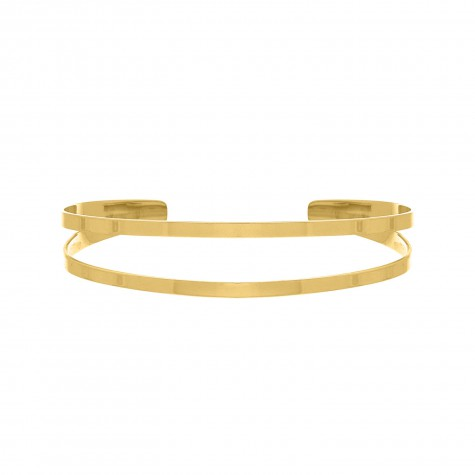Dubbele bangle gold plated