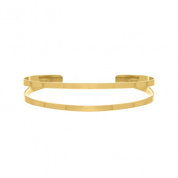 Dubbele bangle gold plated