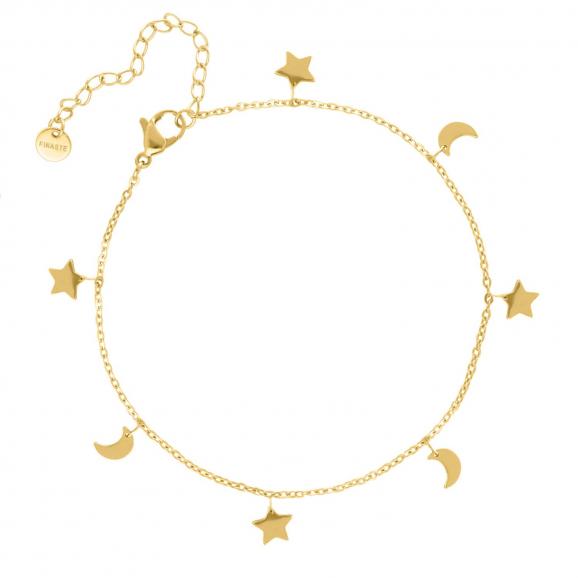 Armband ster & maan goud kleurig