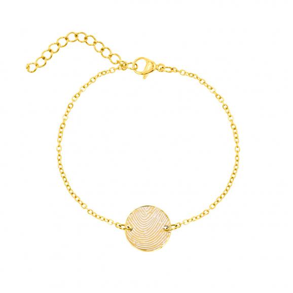 Armband vingerafdruk goud kleurig