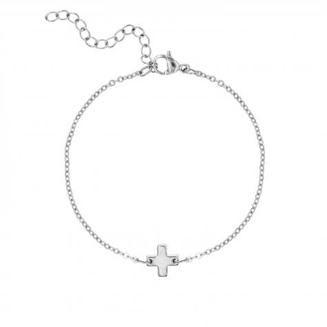 Zilveren armband met plus teken
