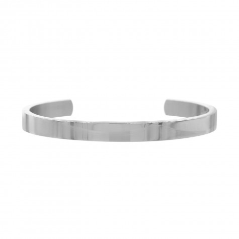 Zilveren open bangle