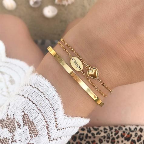 Gouden armbandje met hartje