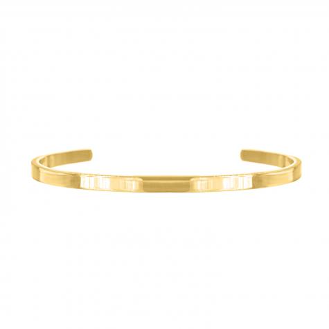 Minimalistische gouden bangle van finaste