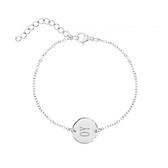 Graveerbare Armband Rond Zilver