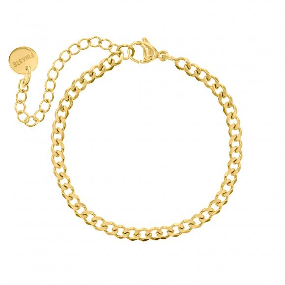 Subtiel plat schakelarmbandje goud kleurig
