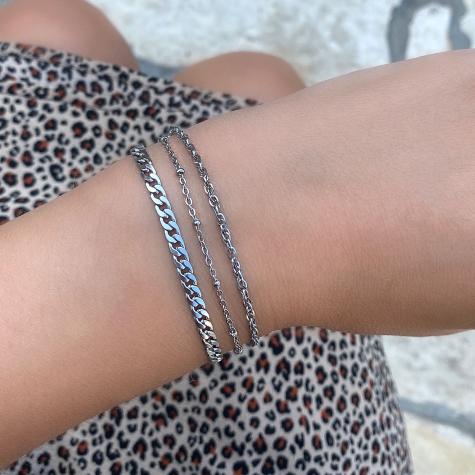 Zilveren minimalistische zilveren armband
