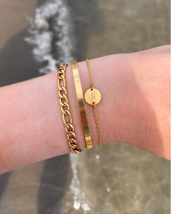 mix van trendy gouden armbanden