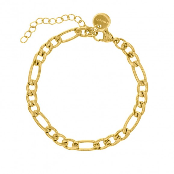 Gouden mixed chain schakelarmband