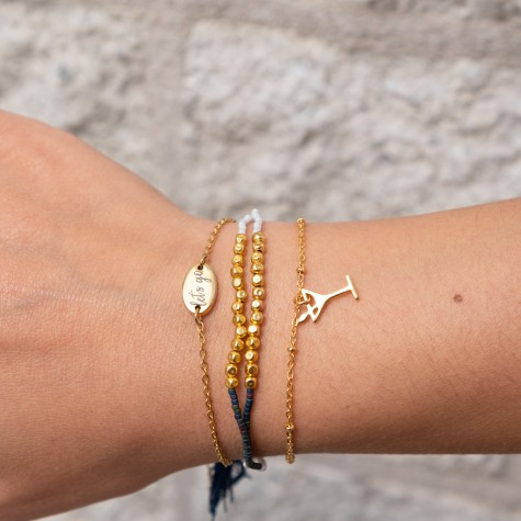 Gouden party armband cocktail