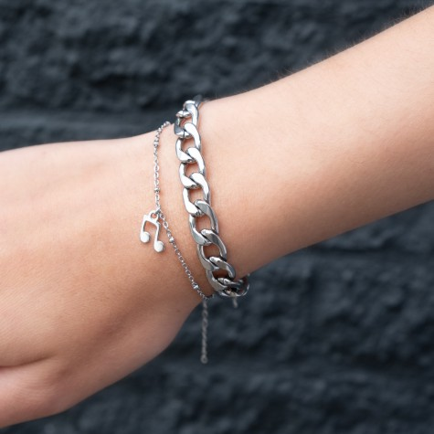 Grote zilveren chain armband