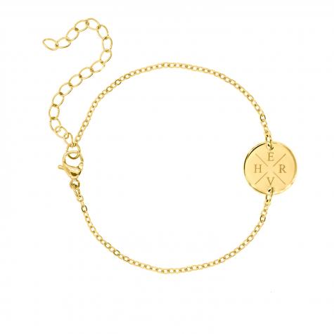 Graveerbare Armband met Vier Initialen Goud